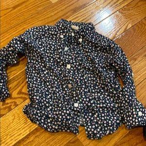 Floral linin dress shirt